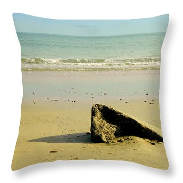 Pointed Rock At Squibby Throw Pillow