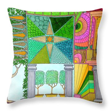 Pointed View Throw Pillow