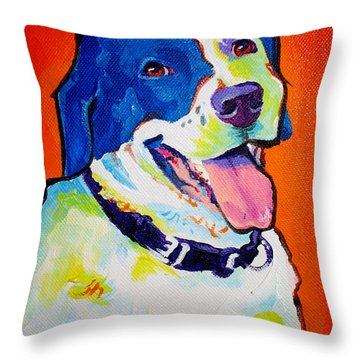 Pointer - Causi Throw Pillow by Alicia VanNoy Call