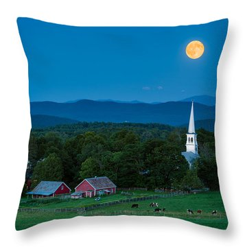 Pointing At The Moon Throw Pillow