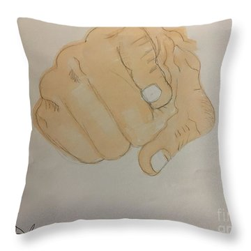 Pointing Finger Throw Pillow