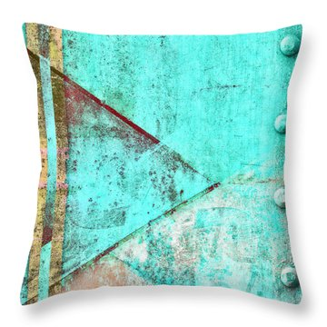 Throw Pillow featuring the photograph Pointing Right To Rivets by Carol Leigh