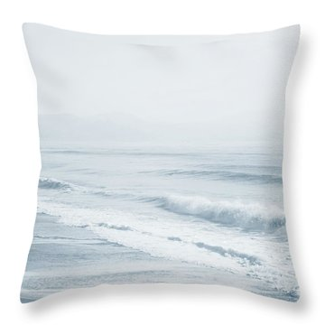 Throw Pillow featuring the photograph Pointless Nostalgia. Series Ethereal Blue  by Jenny Rainbow