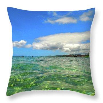 Poipu Beach Throw Pillow