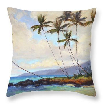 Poipu Beach  Throw Pillow
