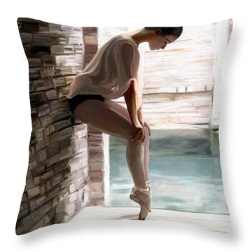 Poised For Fame Throw Pillow