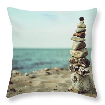 Poised Throw Pillow by Hannes Cmarits