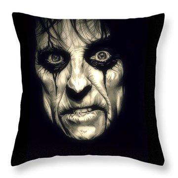 Poison Alice Cooper Throw Pillow