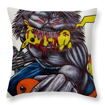 Pokemon Killer Throw Pillow
