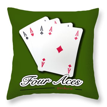 Poker Of Aces - Four Aces Throw Pillow