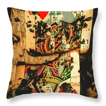 Poker War Revolt Throw Pillow