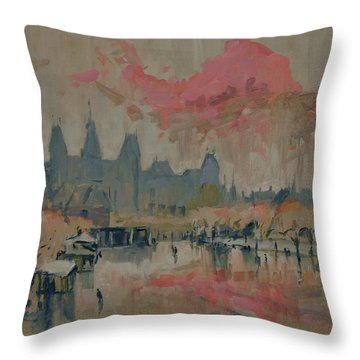 Pokkenweer Museum Square In Amsterdam Throw Pillow