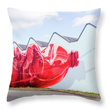 Throw Pillow featuring the photograph Polar Bear In A Coke Bottle by Chris Dutton
