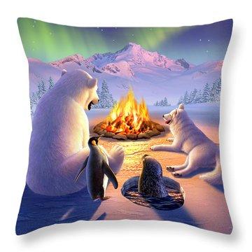 Polar Pals Throw Pillow