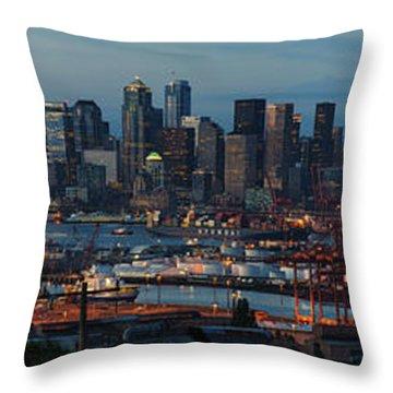 Polar Pioneer Docked In Seattle Throw Pillow