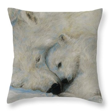 Polar Snuggle Throw Pillow by Meagan  Visser