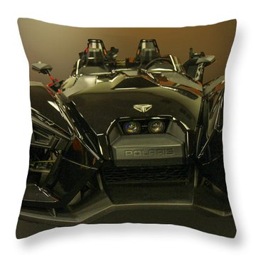 Throw Pillow featuring the photograph Polaris Slingshot by Robert Hebert