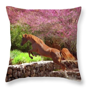 Polaris The Jumper Throw Pillow