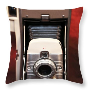 Polaroid Bellows Camera Throw Pillow