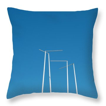 Poles In Blue Throw Pillow