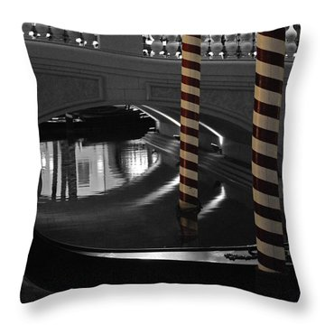 Throw Pillow featuring the photograph Poles by Maggy Marsh
