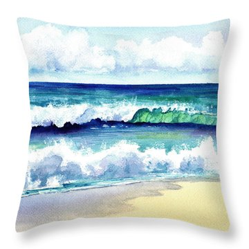 Polhale Waves 3 Throw Pillow by Marionette Taboniar