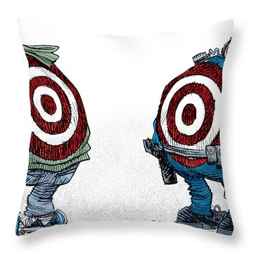 Police And Black Folks Are Targets Throw Pillow