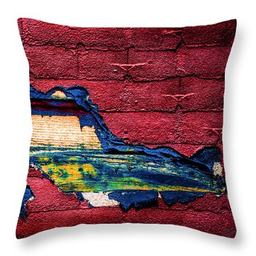 Police Car Abstract Throw Pillow