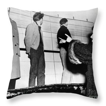 Police Lineup, 1953 Throw Pillow by Granger