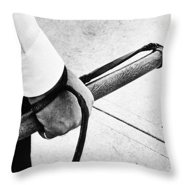 Police Nightstick Throw Pillow by Granger