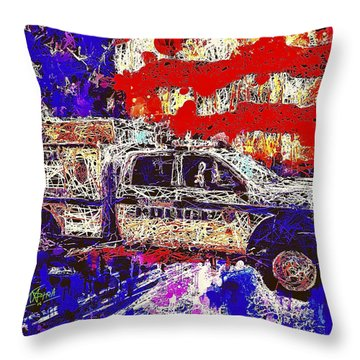 Police Truck Throw Pillow