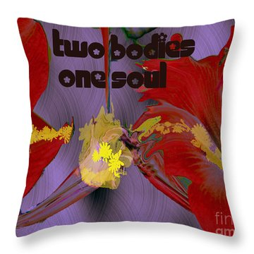 Throw Pillow featuring the digital art Polinating by Irma BACKELANT GALLERIES