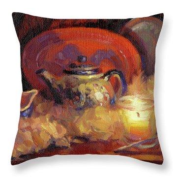 Polish Pottery  Throw Pillow