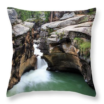 Polished Rock Throw Pillow