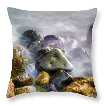 Polished Rocks Throw Pillow