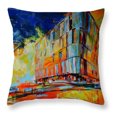 Kreispolizeibehoerde, Mettmann - Police Headquarters, Mettmann Throw Pillow by Koro Arandia
