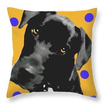 Polka Dot Throw Pillow by Amanda Barcon