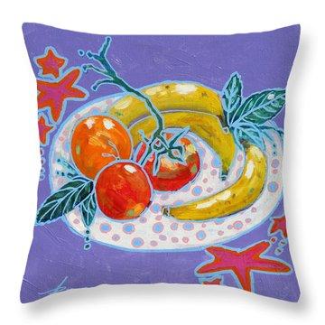 Polka-dot Plate  Throw Pillow