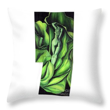 Throw Pillow featuring the painting Pollination by Fei A