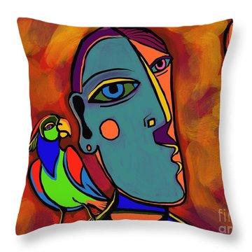 Polly's Cracker Throw Pillow