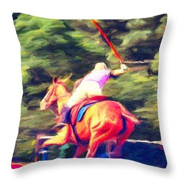 Polo Game 2 Throw Pillow