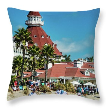 Polo At The Del Throw Pillow
