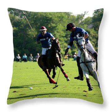 Polo Match Throw Pillow