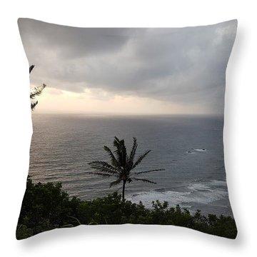 Pololu Valley, Hawaii Throw Pillow