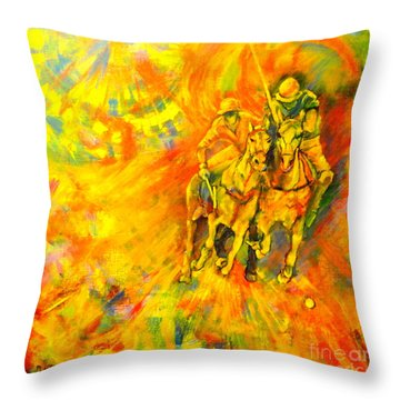 Poloplayer Throw Pillow
