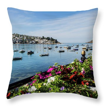 Polruan And The Mouth To The Fowey Estuary. Throw Pillow