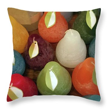 Polychromatic Pears Throw Pillow