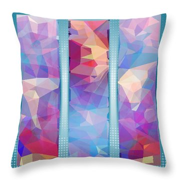 Polygon Abstract In 3 Frames Throw Pillow