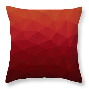 Polygon Throw Pillow by Mike Taylor