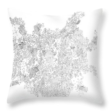 Polymer Crystallization With Modifiers Throw Pillow